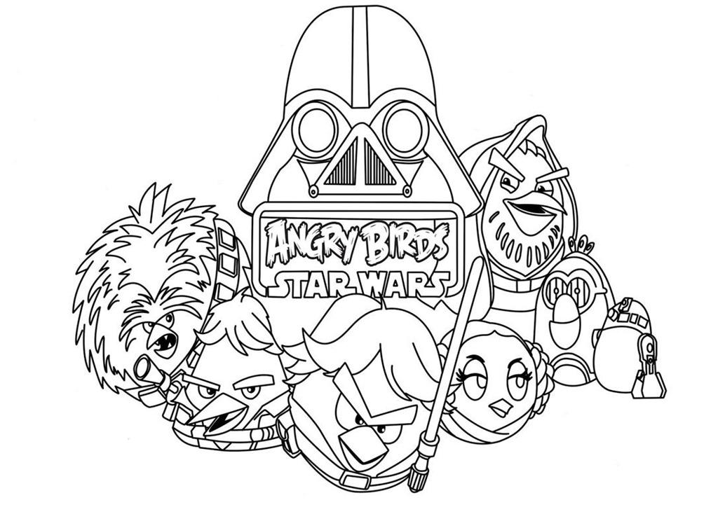 Desenho Angry Birds Menina Para Colorir: Angry Birds Star Wars Desenhos Para Imprimir Colorir E
