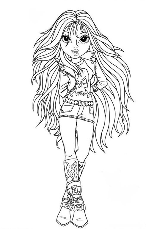 Bonecas moxie girlz desenhos para imprimir colorir e - Moxie girlz pagine da colorare ...