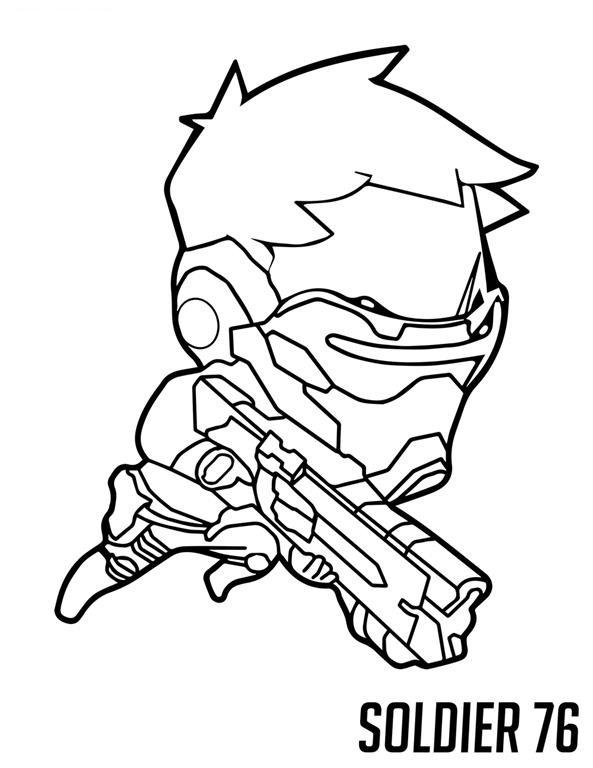 Overwatch desenhos para colorir