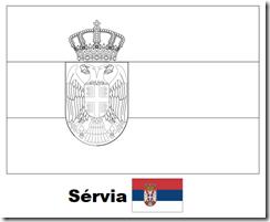 Bandeira da Sérvia para imprimir e colorir