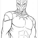 Desenhos para colorir e pintar do Pantera Negra