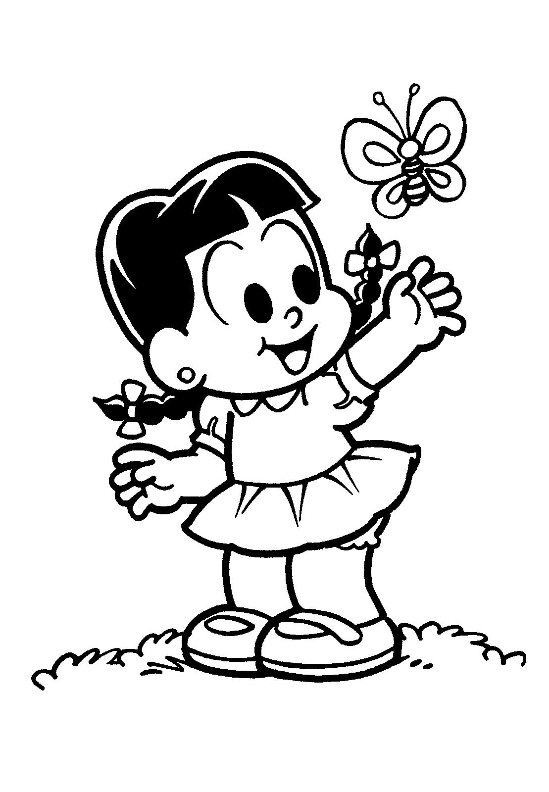 Turma Da Monica Desenhos Para Colorir Imprimir E Pintar Do