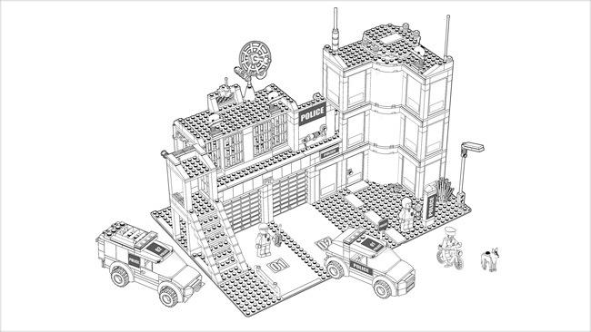 lego city  desenhos para pintar imprimir e colorir