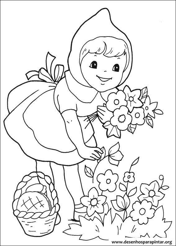Chapeuzinho Vermelho Desenhos Para Imprimir Pintar E Colorir