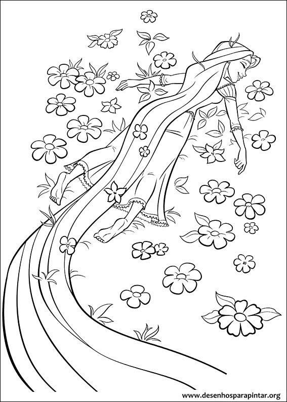 Enrolados Desenhos Para Imprimir Colorir E Pintar Da Princesa