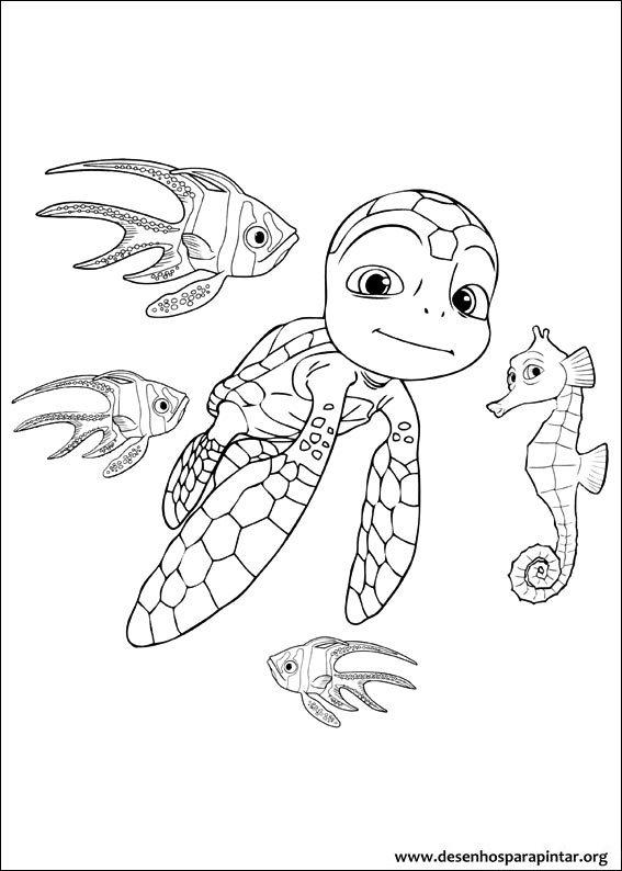 As Aventuras De Sammy A Tartaruga Desenhos Para Imprimir Colorir E