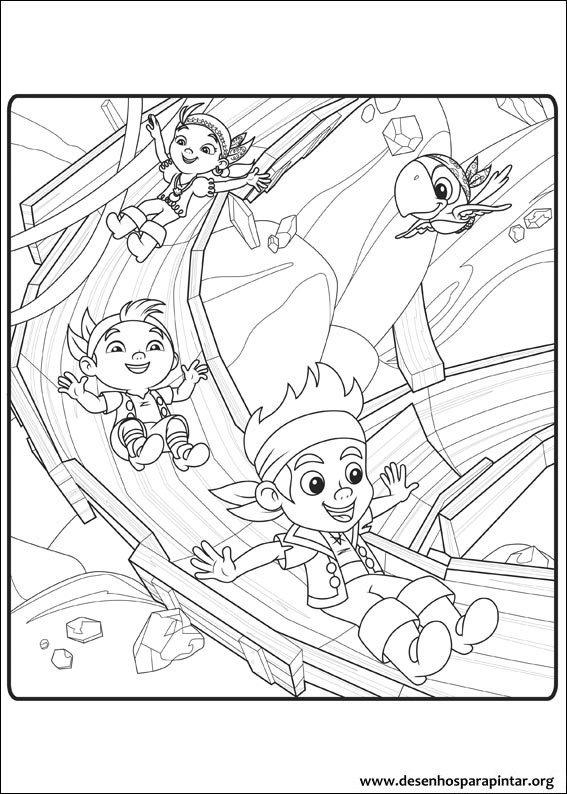 Jake E Os Piratas Da Terra Do Nunca Do Disney Jr Desenhos Para