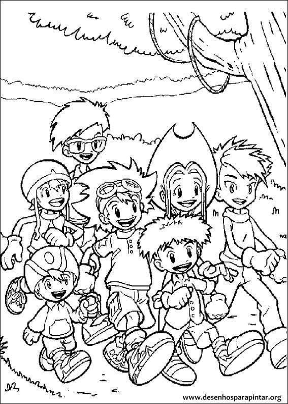 Digimon Desenhos Para Imprimir Colorir E Pintar Desenhos Para