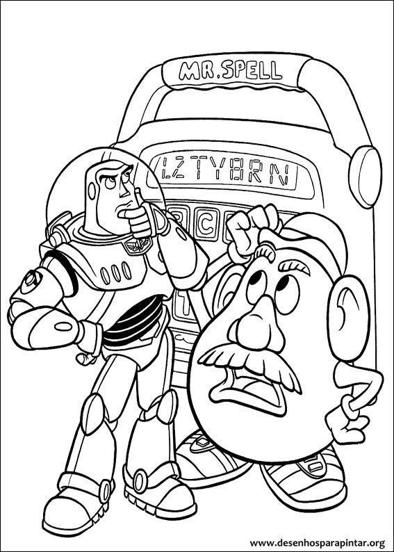 Toy Story Desenhos Para Imprimir Colorir E Pintar Do Woody Buzz