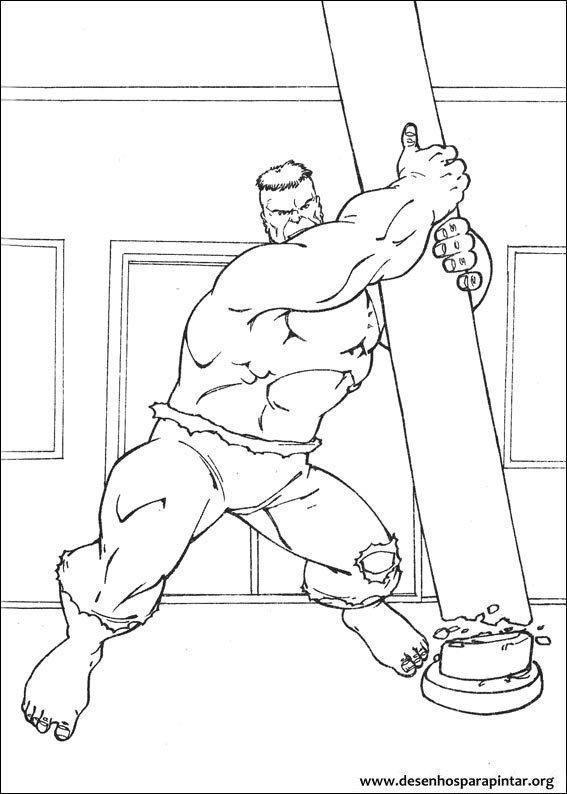 Hulk Desenhos Para Imprimir Pintar E Colorir Do Super Heroi Verde