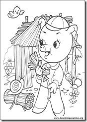 Os Tres Porquinhos E O Lobo Mau Desenhos Para Imprimir Colorir E