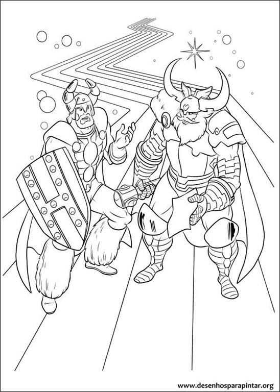 Imagenes De Thor Para Colorear E Imprimir