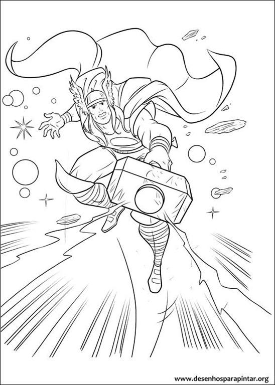 Thor O Filho De Odin Desenhos Para Imprimir Colorir E Pintar