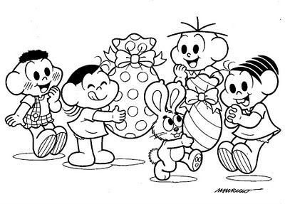 Desenhos De Pascoa Da Turma Da Monica Para Imprimir Colorir E