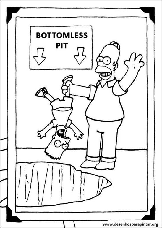Os Simpsons Desenhos Para Colorir Imprimir E Pintar Com Bart