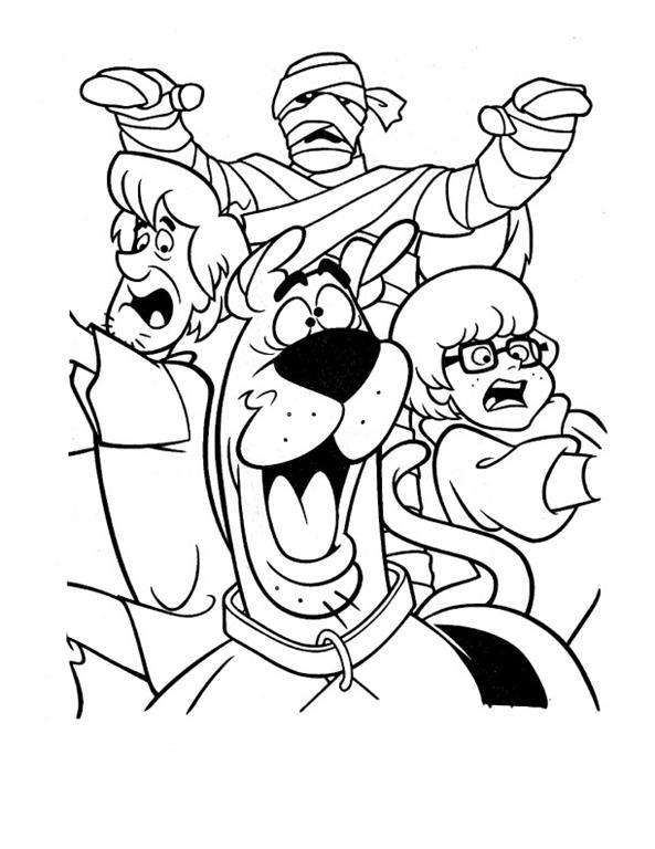 Scooby Doo Salsicha Fred Velma E Daphne Desenhos Para Imprimir