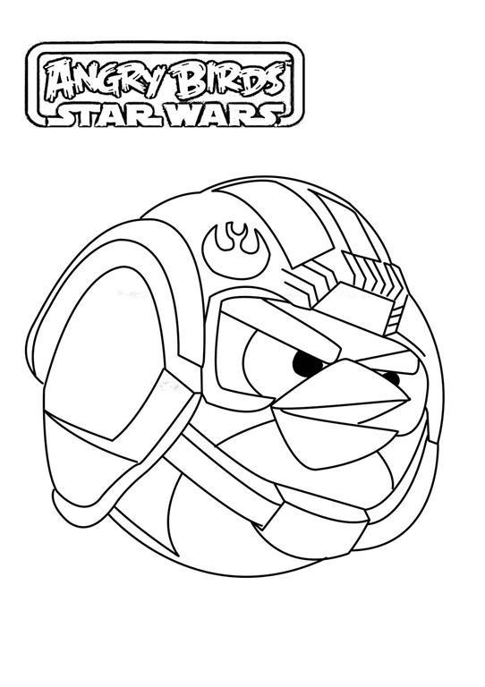 Angry Birds Star Wars Desenhos Para Imprimir Colorir E Pintar