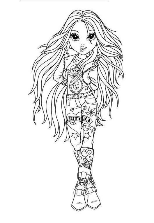 Bonecas Moxie Girlz Desenhos Para Imprimir Colorir E Pintar