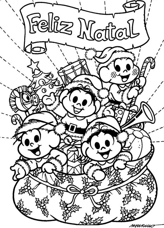 Feliz Natal Desenhos Para Pintar Imprimir E Colorir Com A Turma Da